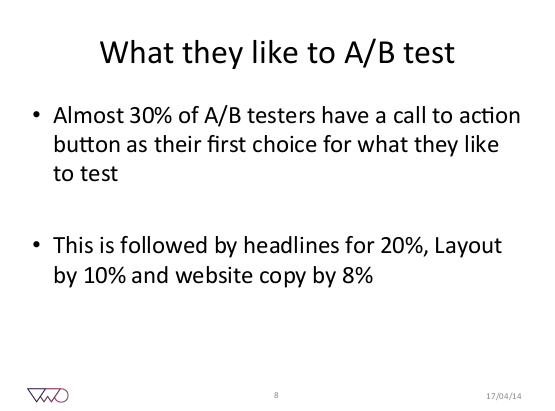 What they like to AB test